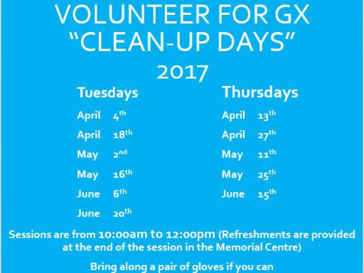 "Image for Volunteers needed for GX ""Clean-Up"" days"