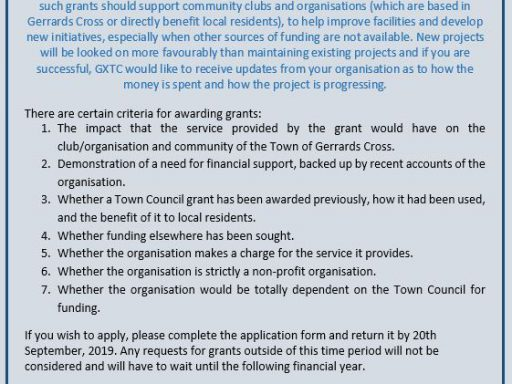 Image for Apply now for a Town Council Grant